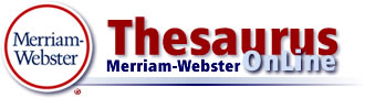merriam webster online thesaurus